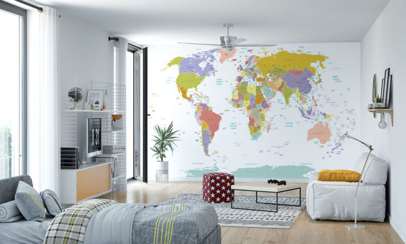 World In Colour Wall Art