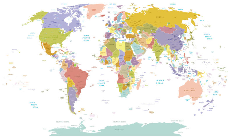 World In Colour Mural