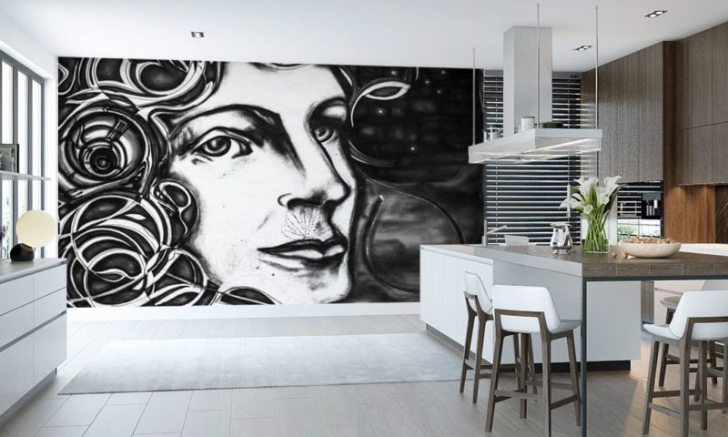 Classical Black and White Composer Mural Wallpaper Art