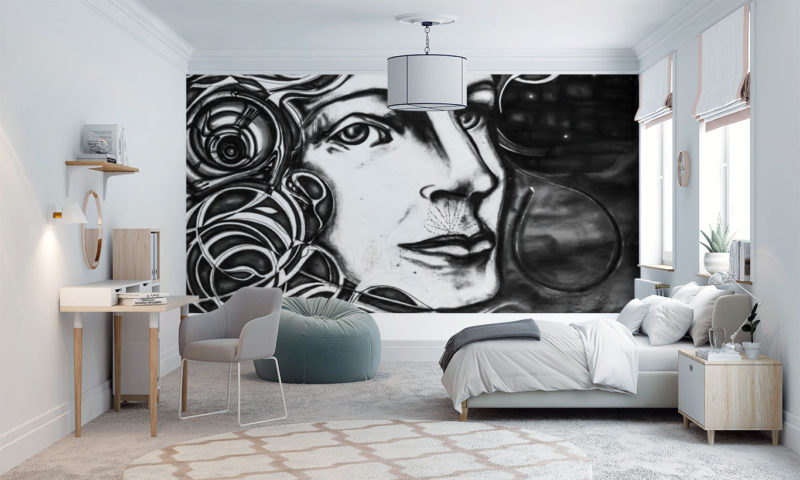 Classical Black and White Composer Wall Mural