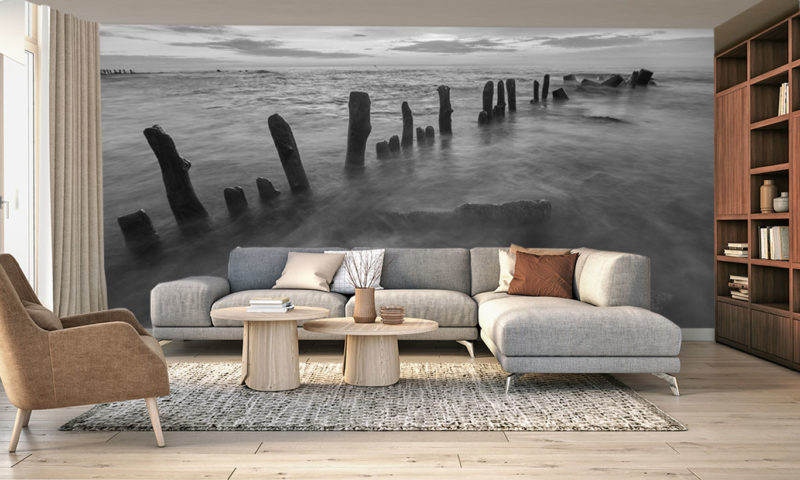 Misty Water Wooden Stakes Wall Art