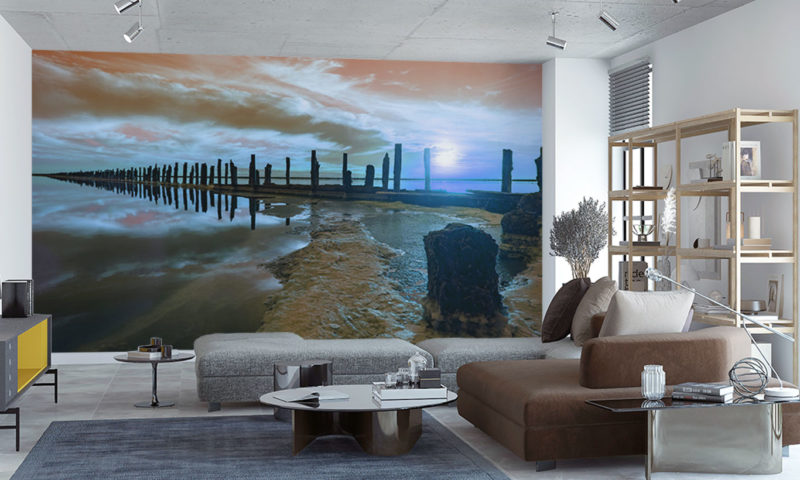 Colourful High-Quality Wooden Pier Wall Art