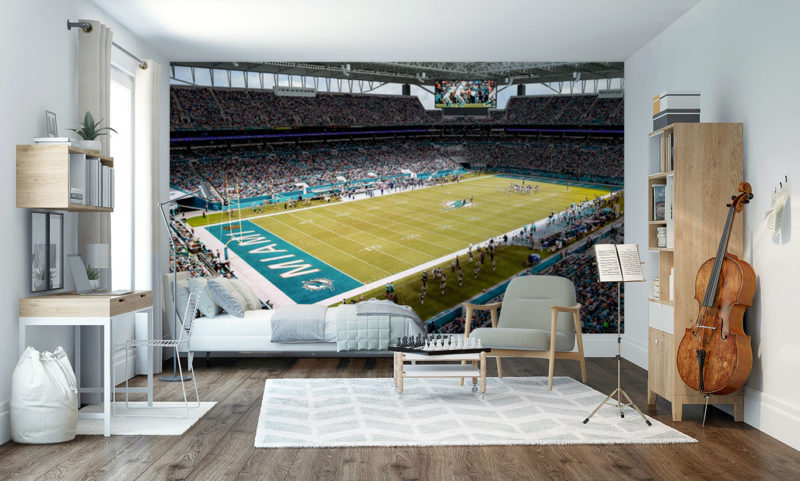 Miami Dolphins Stadium Wall Mural