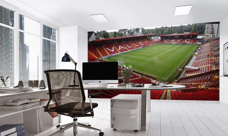 Charlton Athletic FC The Valley Mural Wallpaper