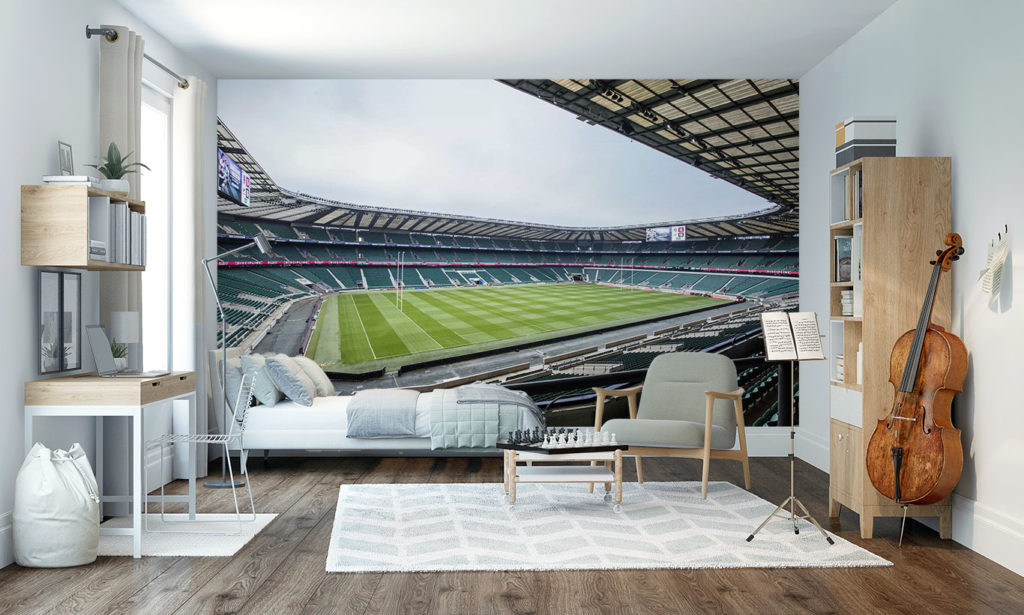 England Rugby Stadium Wall Mural