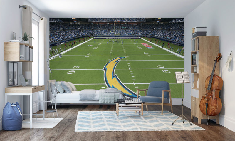 Los Angeles Chargers Stadium Mural Wallpaperl