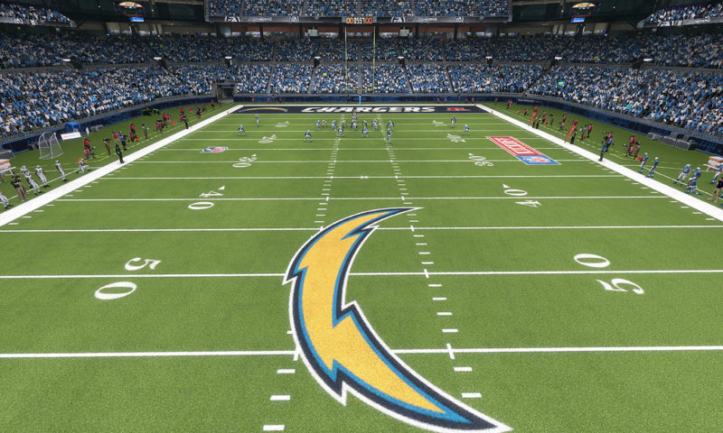 Los Angeles Chargers Stadium Wall Mural
