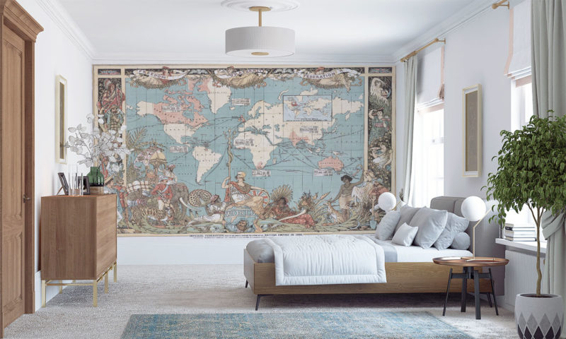 Imperial Federation Map (British Empire) 1886 Mural