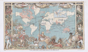 Imperial Federation Map (British Empire) 1886 Wall Art