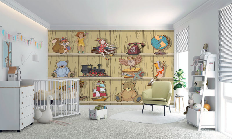 Old Toy Shelves Wall Art