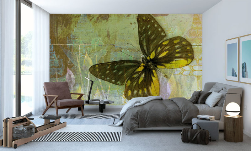 Shop by room Shop by style Shop childrens Shop football Upload your image Majestic Golden Butterfly Wallpaper
