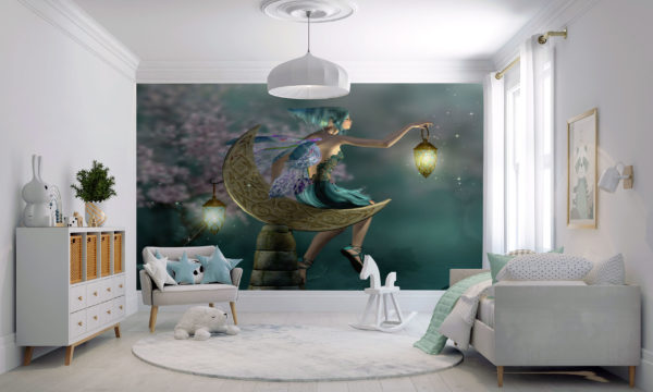 Fairy With A Lamp Childrens Wallpaper Mural