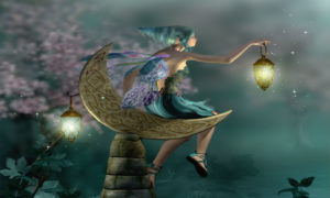 Fairy With A Lamp Childrens Art