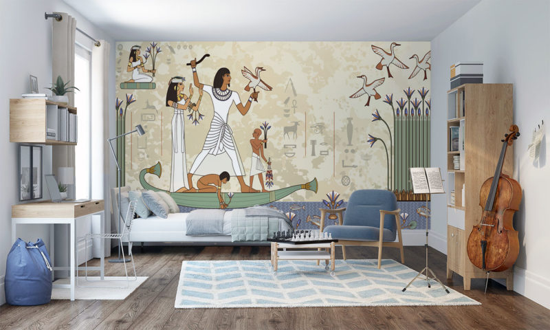 Ancient Egyptian Wall Mural