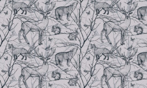 Stunning Illustration Of The Animals Of Our Forest Wallpaper Mural