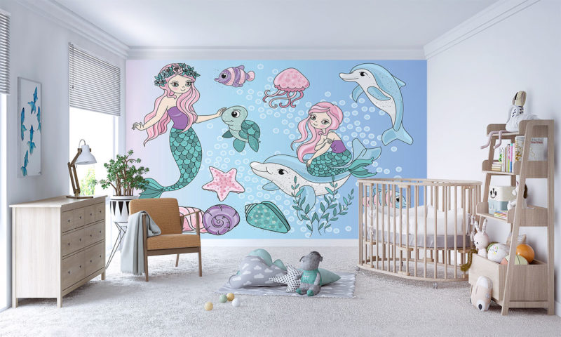Mermaids and Dolphins Wall Art