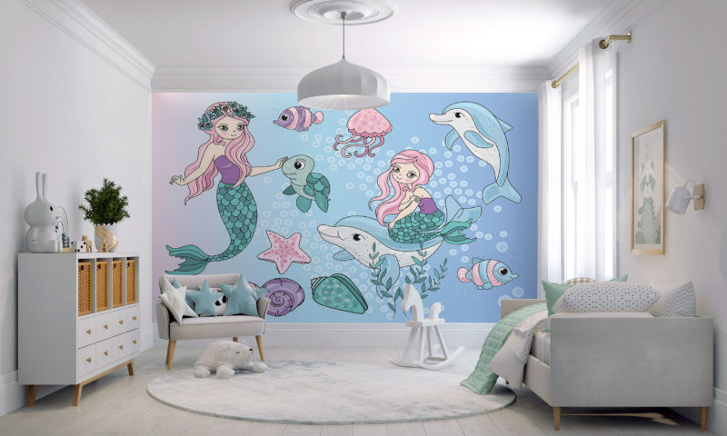 Mermaids and Dolphins Wallpaper