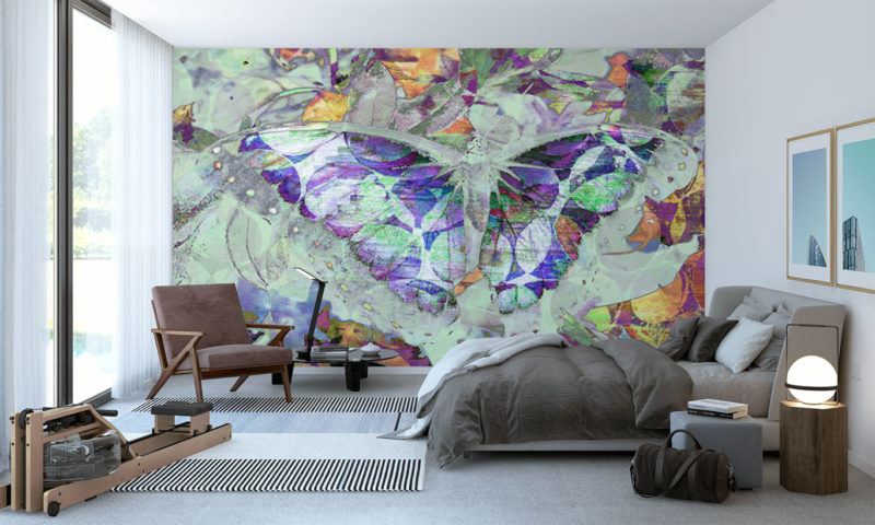Inverted-Butterfly with Wings Spread Wall Art