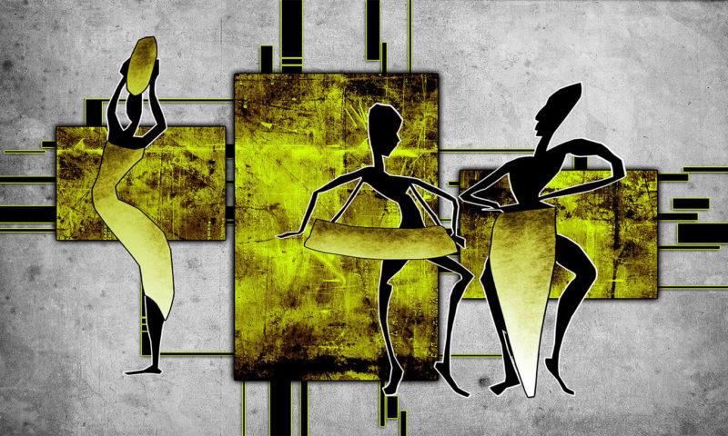 Yellow African Inspired Silhouette Wallpaper Mural