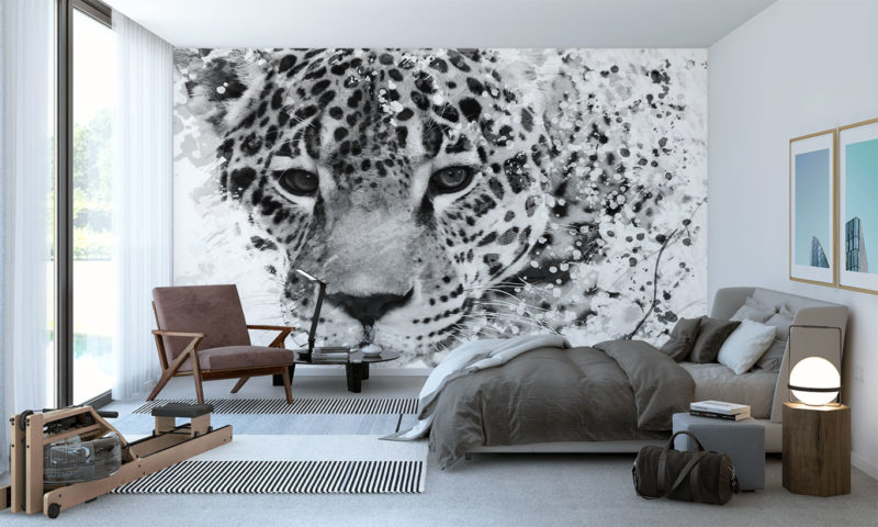 Black and White Leopard Sketch Wall Art
