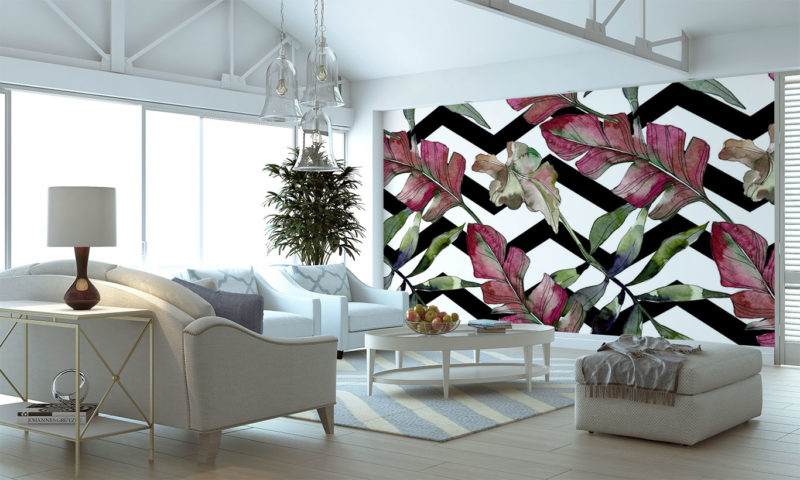 Red-stained Flower Arrangement Wall Art