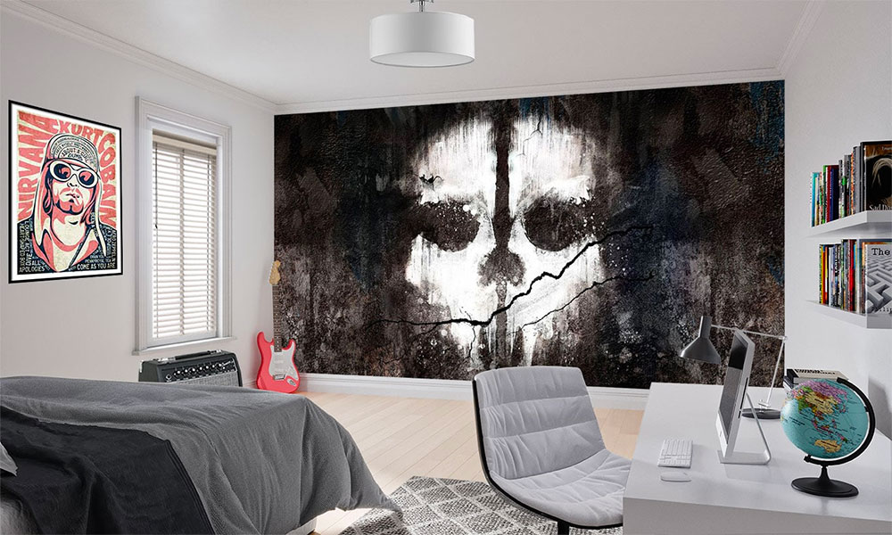 scary call of duty wallpaper mural ideal for gamers