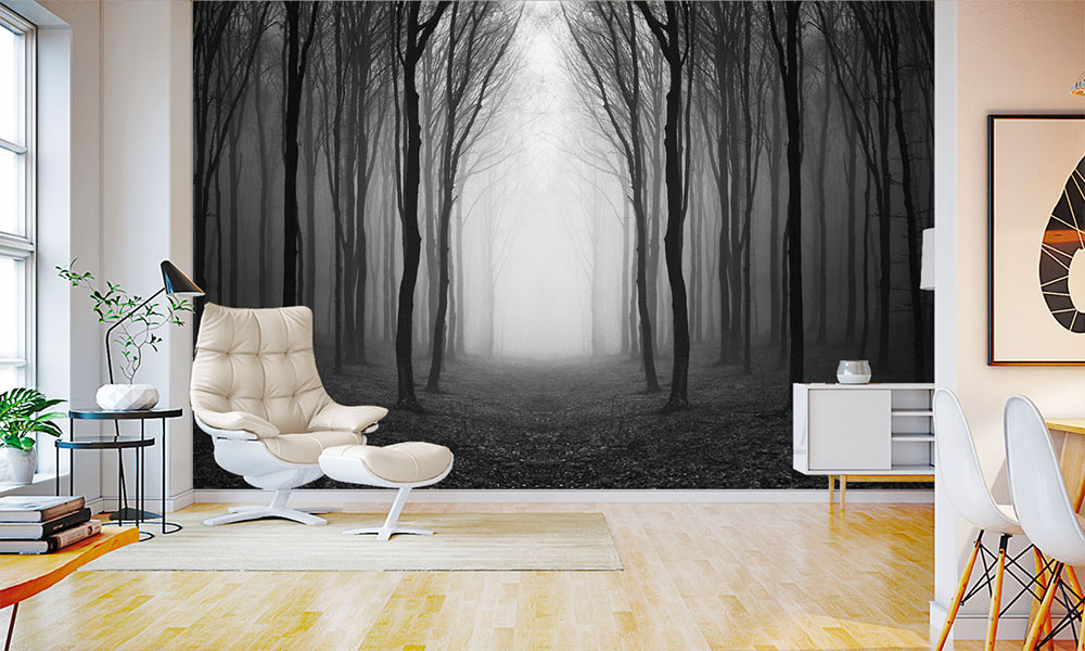 haunted forest wallpaper mural